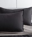 black corduroy pillow