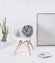 circle knot cushion-charcoal 1