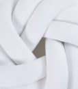 circle knot cushion-white close-up