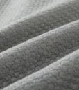 grey jersey cotton coverlet detail 1