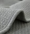 grey jersey cotton coverlet detail 2