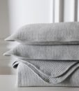 grey jersey cotton coverlet detail 3