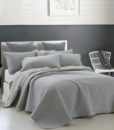 grey jersey cotton coverlet side