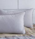 silver corduroy pillow
