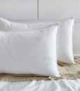 white corduroy pillow