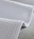 white jersey cotton coverlet detail 2