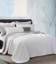white jersey cotton coverlet side