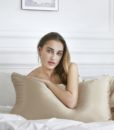 champagne mulberry silk pillow case 1