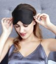 black pure silk eye mask 2