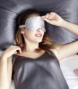 silver pure silk eye mask 1