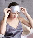 silver pure silk eye mask 4