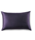 dark purple silk pillow case front