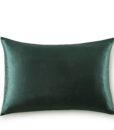 emerald green silk pillow case front