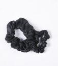 black silk scrunchies