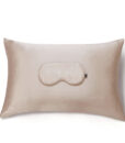 champagne pillow case with eye mask
