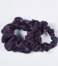 dark purple silk scrunchies